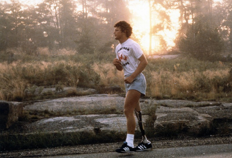 In a retro nod to Terry Fox's classic sneakers, Adidas released a new pair in time for the Marathon