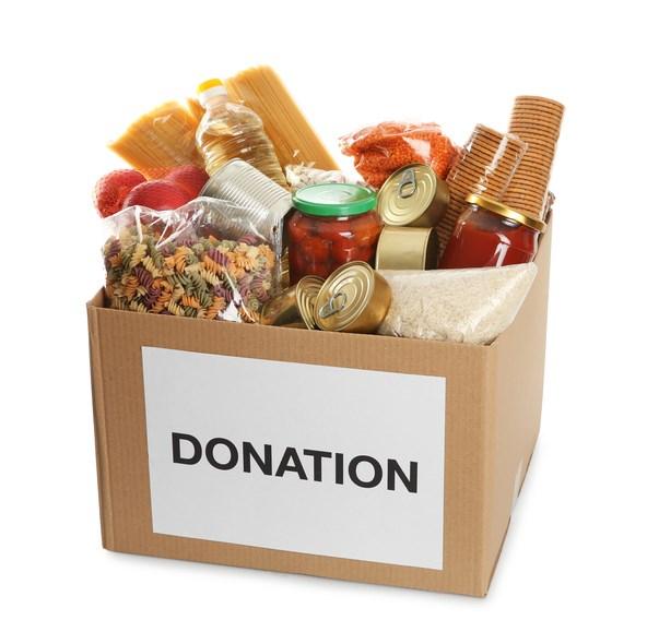 Food donations, stock photo