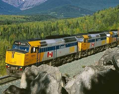 Via Rail train WEB
