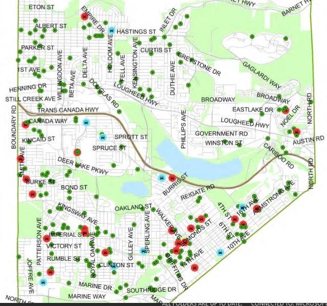 Burnaby RCMP map crime