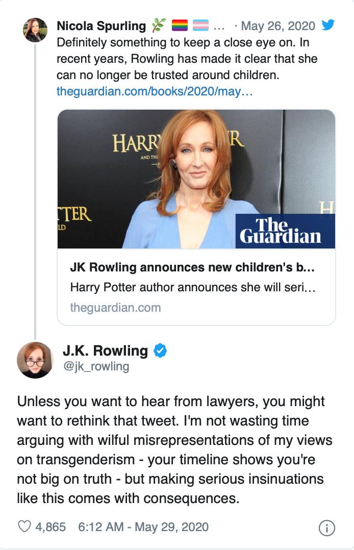 Spurling's original tweet has since been deleted.