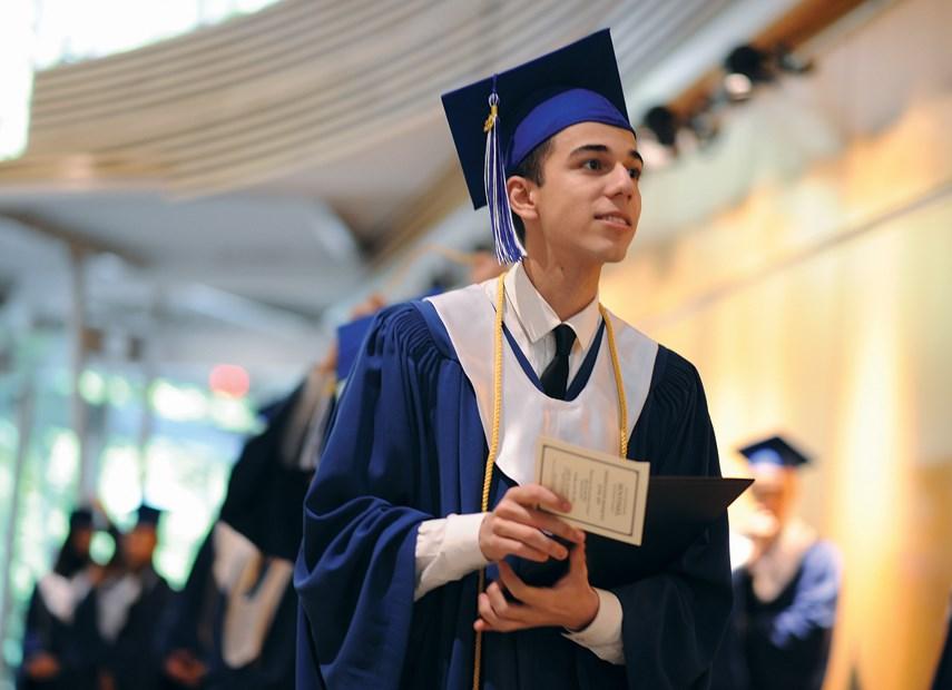 Sentinel grad student w diploma