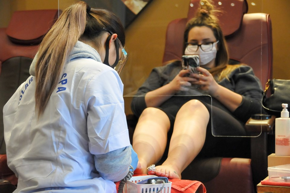 Burnaby's Jackie Wong returned in the first week of Solar Nail and Spa's operation, but many of the