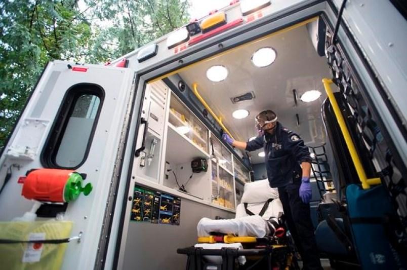 Ambulance paramedics during COVID-19