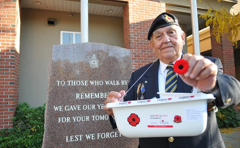 Ret. Cpl. Dennis Waunch outside the Port Coquitlam Legion. For many years in Port Coquitlam, beginni