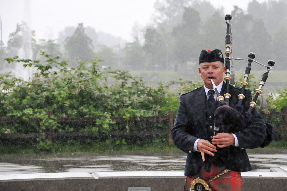 Mike Chisholm plays 'Bonnie Black Isle,' or 'A Lament for the Highland Games' at Coquitlam's Lafarge