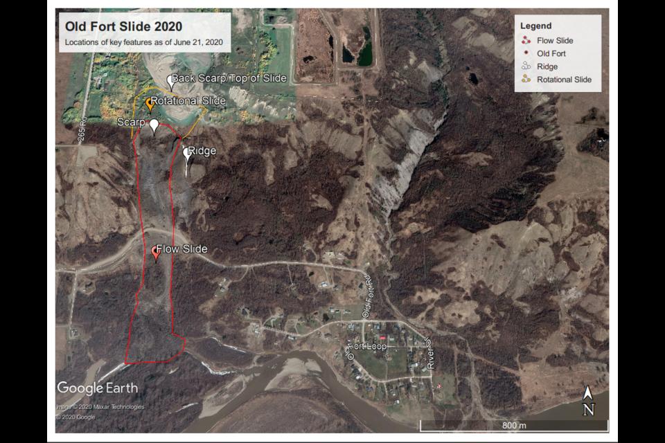 Old Fort landslide, June 2020.