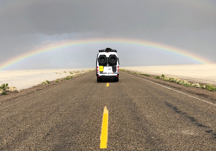 The Buechler family hits the road for a 2019 cross-continent trip in a custom vehicle made by North Vancouver's Nomad Vanz. photo Buechler Family