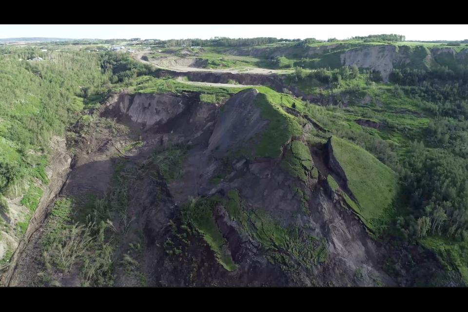 Old Fort landslide, June 22, 2020.