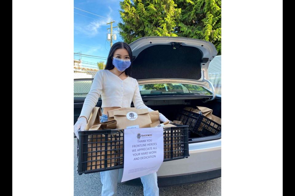 Patrisse Chan, one of the leaders of Feeding Our Frontlines, aimed to help both restaurant owners and healthcare workers simultaneously during COVID-19. Photo submitted