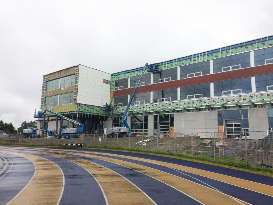 NWSS, New Westminster Secondary School, construction