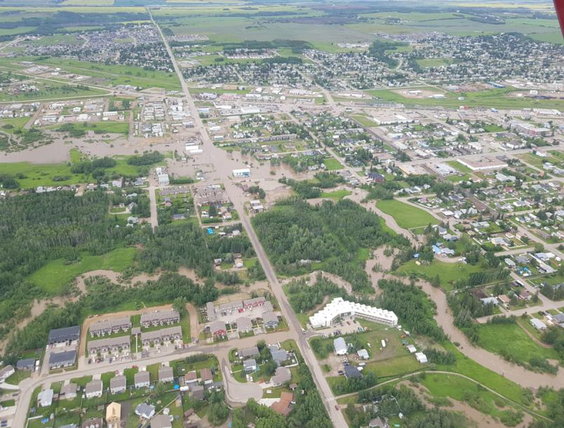 Flooding in Dawson Creek, July 2020.