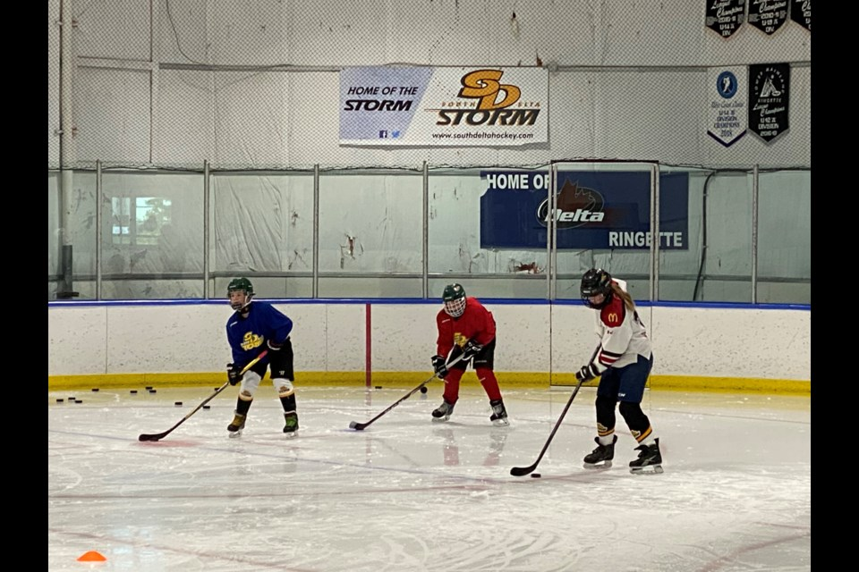 The South Delta Minor Hockey Association hit the ice last weekend for the first time since the COVID-19 pandemic forced the cancellation of all their programs.
