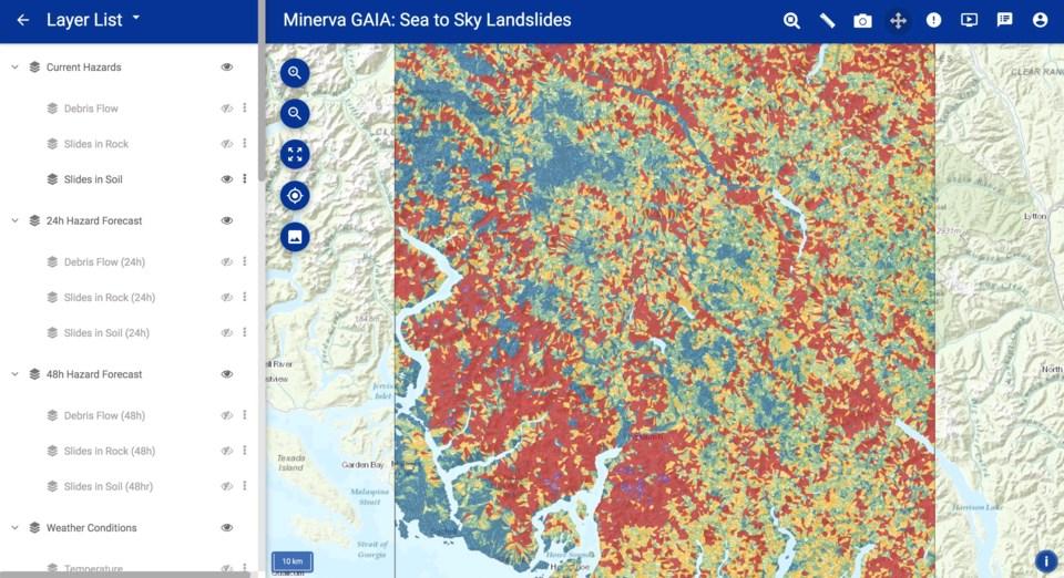 GAIA Sea to Sky Landslide Map