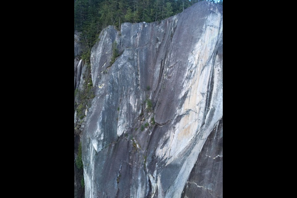 The climbers were on the Birds of Prey route on the Stawamus Chief