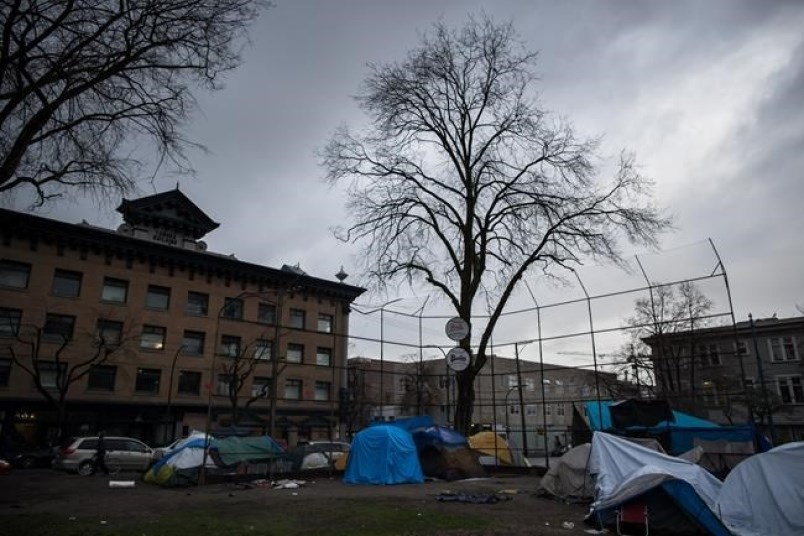 The province is encouraging residents living in tent cities