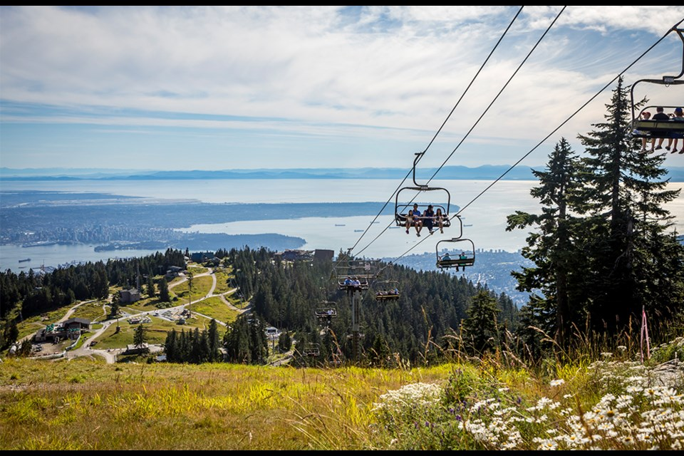 Stunning views from the peak of Grouse Mountain.