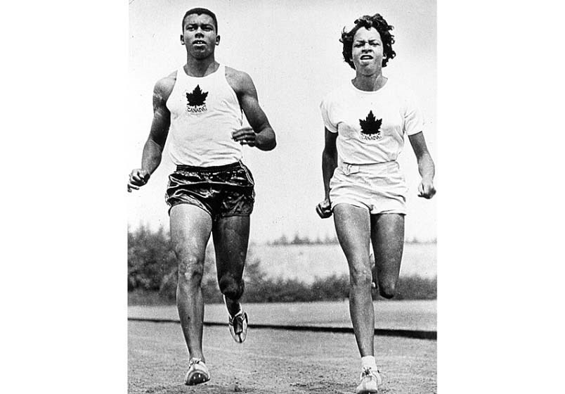 Harry Jerome and sister Valerie hit the track at the 1960 Olympics in Rome. Valerie Jerome's recollections of her brother formed the basis for Norma Charles' young adult novel Runner. photo supplied Vancouver Sun courtesy of North Vancouver Museum and Archives