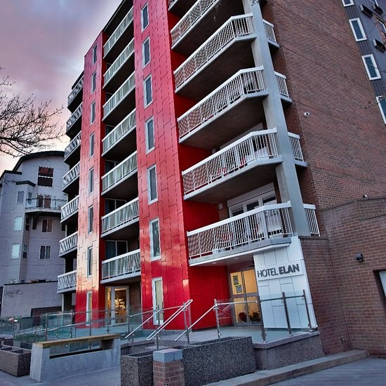 Calgary's Elan hotel was sold to a housing agency.