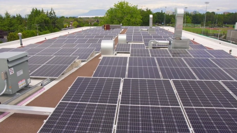 Richmond fire hall #1 solar panels