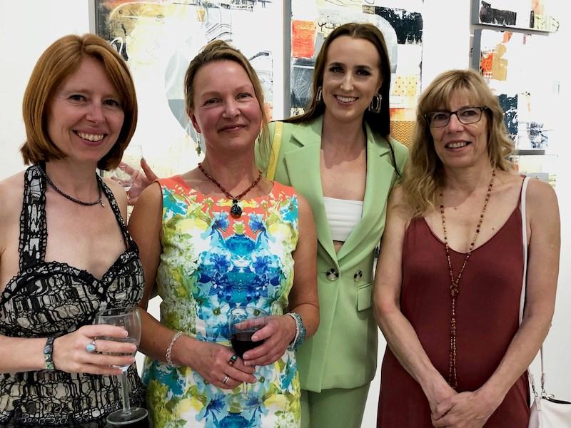 The Hearth staff of 2019: Emilie Kaplun, curator; Kathleen Ainscough, program coordinator; Tara Cole, cultural connector; Jacqueline Massey, executive director