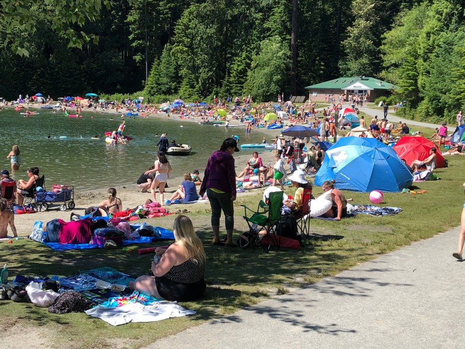 White Pine Beach has become particularly crowded this year, say locals and politicians.