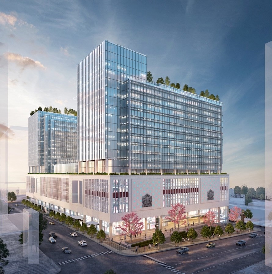 Amazon HQ at the Post rendering
