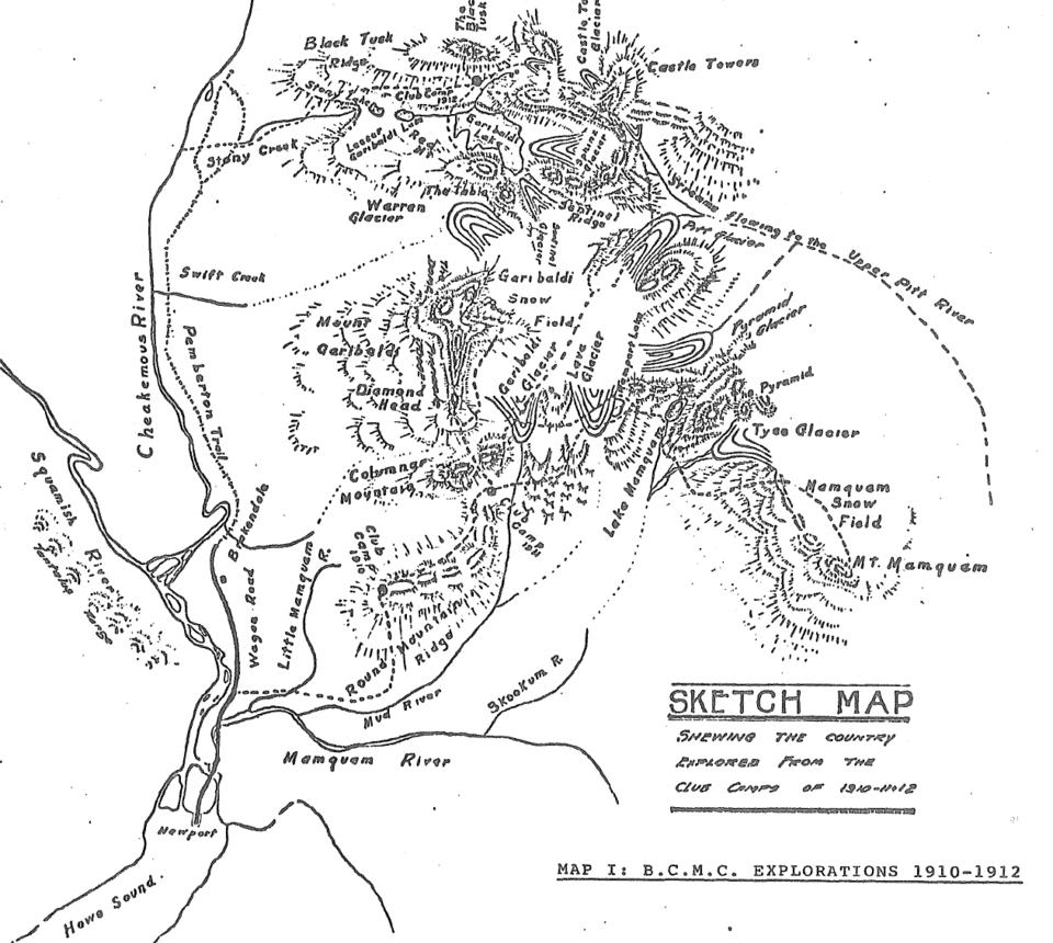 1910 map of Garibaldi