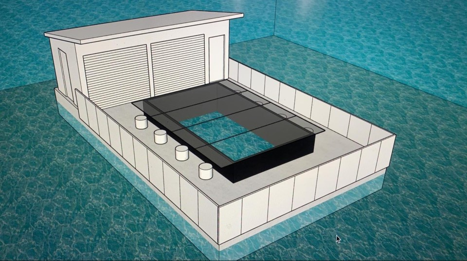 The underwater pen will offer an above-water viewing platform to see marine life below.