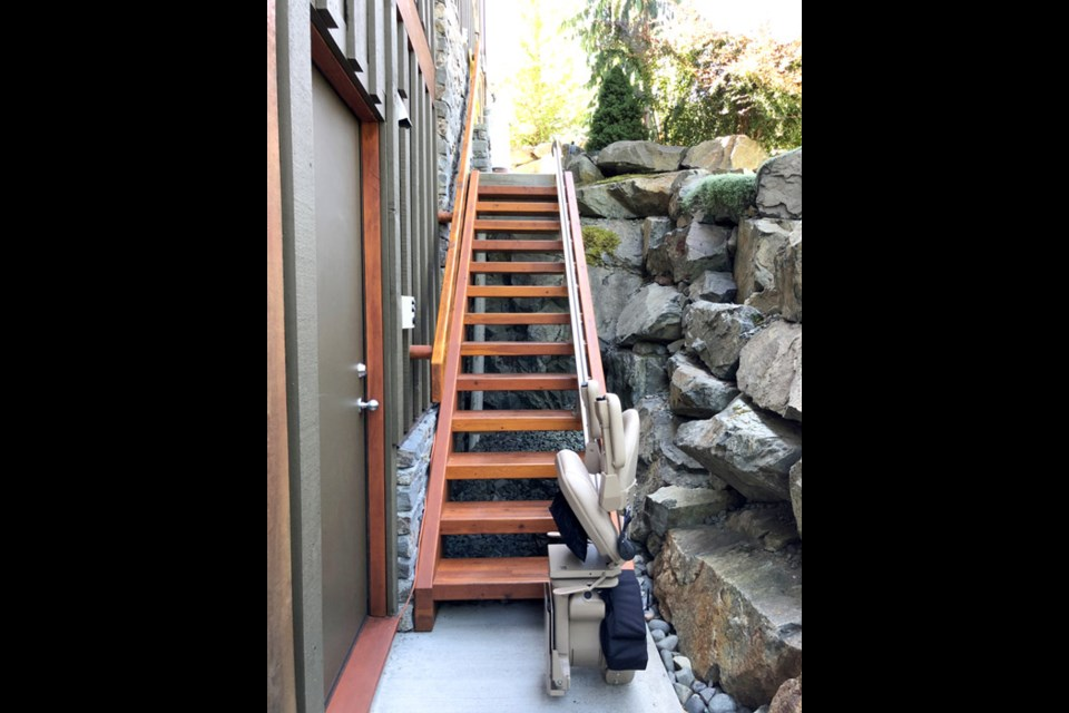 Most staircases–whether they are straight or curved, indoor or outdoor–can accommodate a stairlift.
