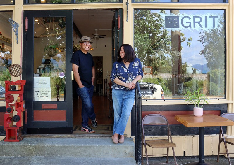 MARIO BARTEL/THE TRI-CITY NEWS Cezar Salaveria and Rose Samaniego opened their new café, gallery and lifestyle shop in the Port Moody heritage building that once occupied the Silk Gallery.