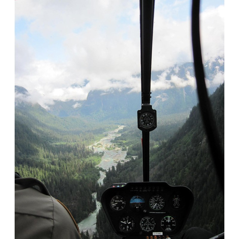 Department of Fisheries officers patrol the upper Pitt River,