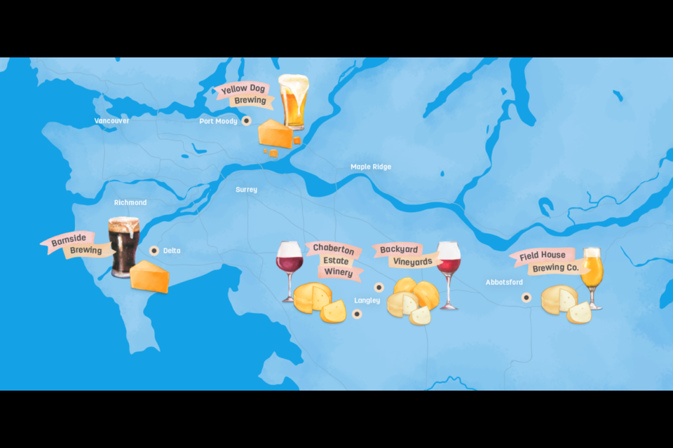 Yellow Dog Brewing is the only stop of B.C.'s 'cheese trail' north of the Fraser River.