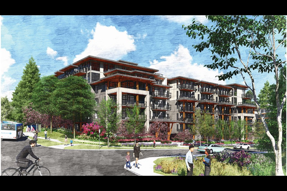 Rendering of proposed Seymour Estates project at Mount Seymour Parkway and Lytton Street