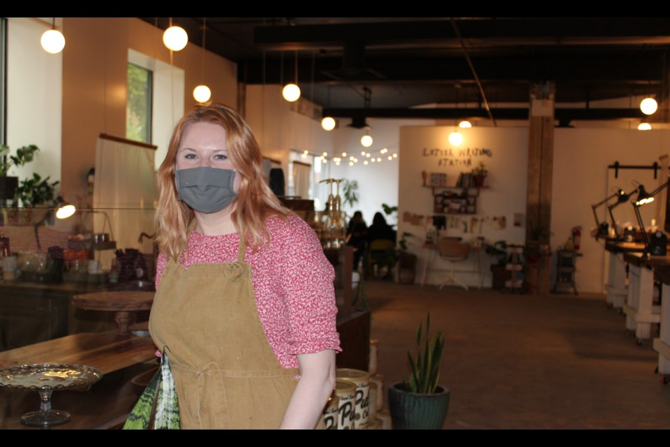 Against the odds posed by the COVID 19 pandemic, Kim Hayhurst has opened The Makerie, a crafts and coffee outlet, in downtown Prince George.