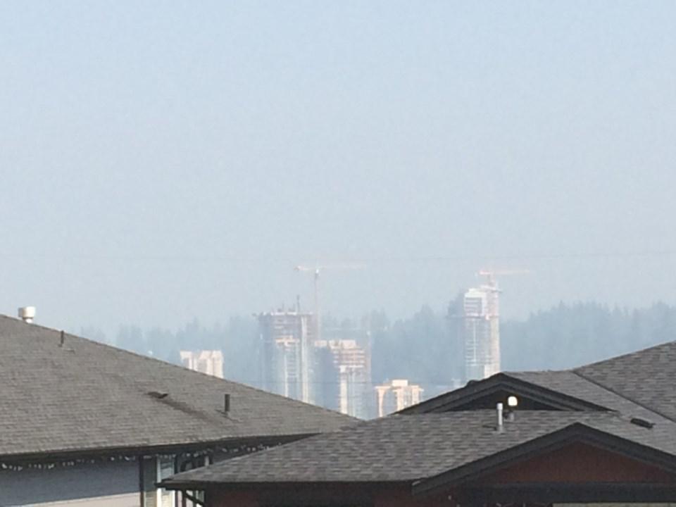 wildfire, smoke, air quality, Burnaby