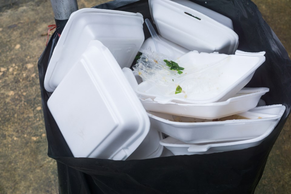 plastic foam take out containers