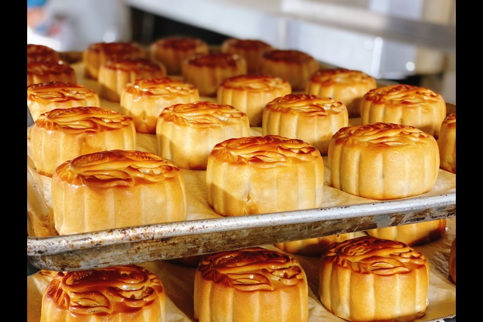 Saint Germain Bakery is rolling out freshly-baked mooncakes to cheer people up. Photo submitted
