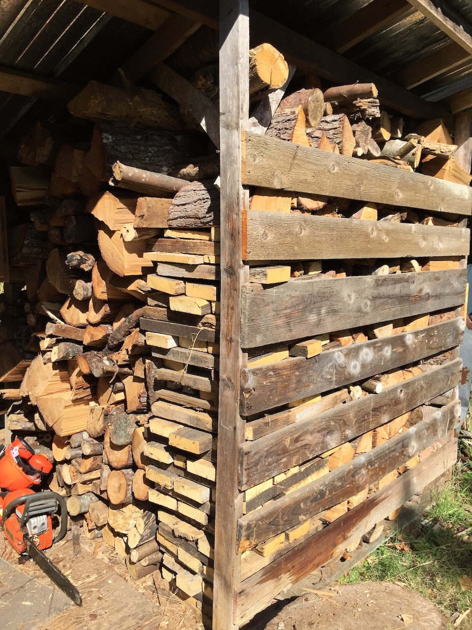 Rob Wynen's wood stacked before the start of fall.
