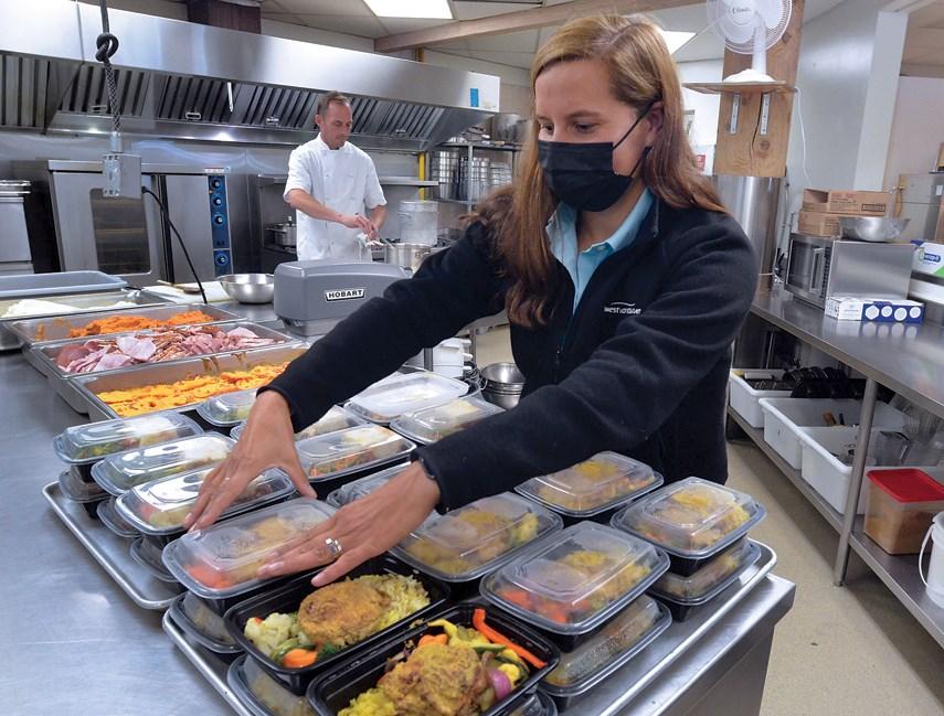 Jill Lawlor at West Vancouver Seniors Activity Centre kitchen