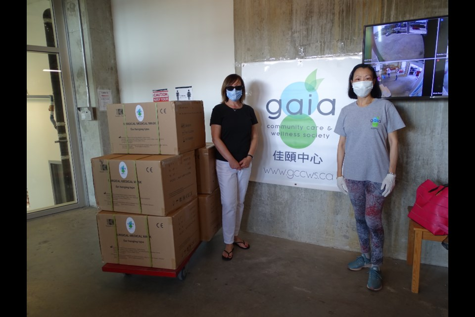 Gaia Community Care and Wellness Society (GCCWS) recently supported front line workers at Fraserview Retirement Community through a donation of 10,000 medical masks. Photo submitted