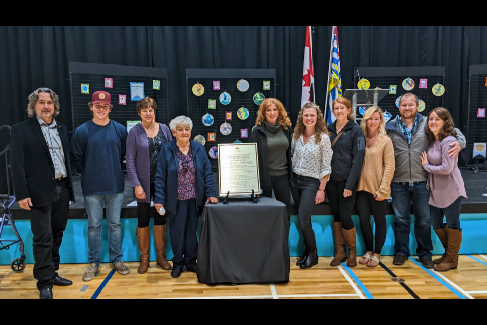 Family members of Anne Roberts Young made the trip to Fort St. John for the grand opening of the school named in her honour, on September 28, 2020.