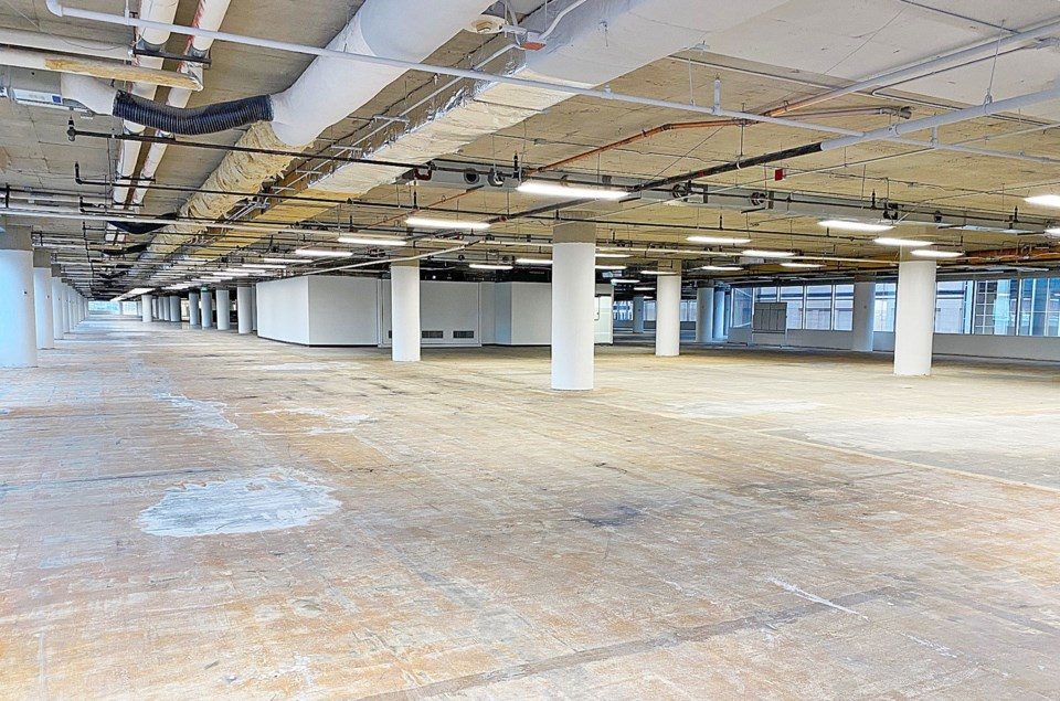 3.8 million square feet of empty sublease space in four cities.  GWL Realty Advisors.