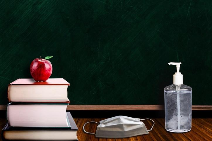 teaching, school, COVID-19, stock photo