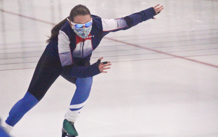 Hannah North is thrilled to be back on the ice for another season of Elks Speed Skating, even though it's a bit different than normal.