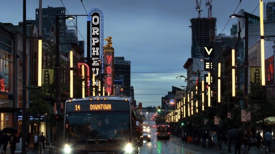 Granville Street in Vancouver