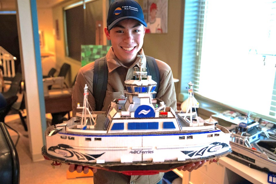 'It's my calling': Port Coquitlam teen with autism builds BC Ferries, TransLink fleets from scratch_1