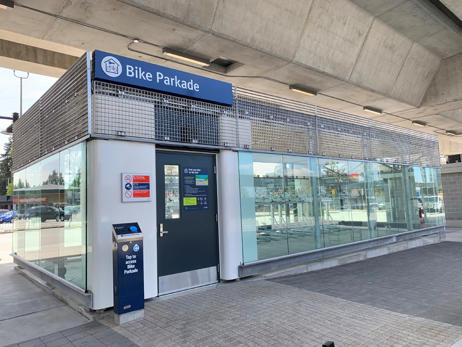 burquitlam bike parkade translink