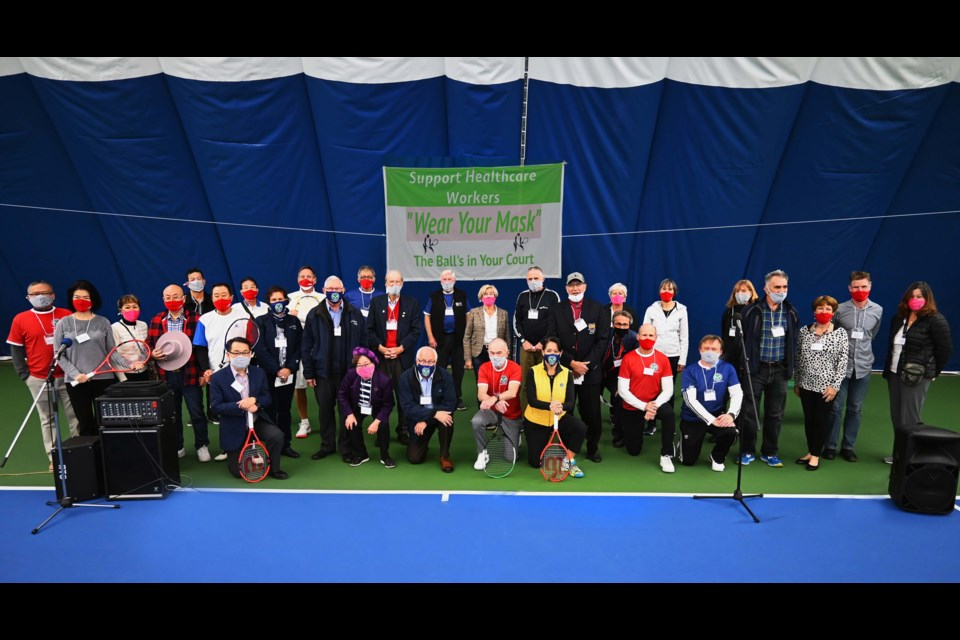 Richmond dignitaries turned out in force for the opening of Richmond Tennis Club's new bubble. Photos submitted