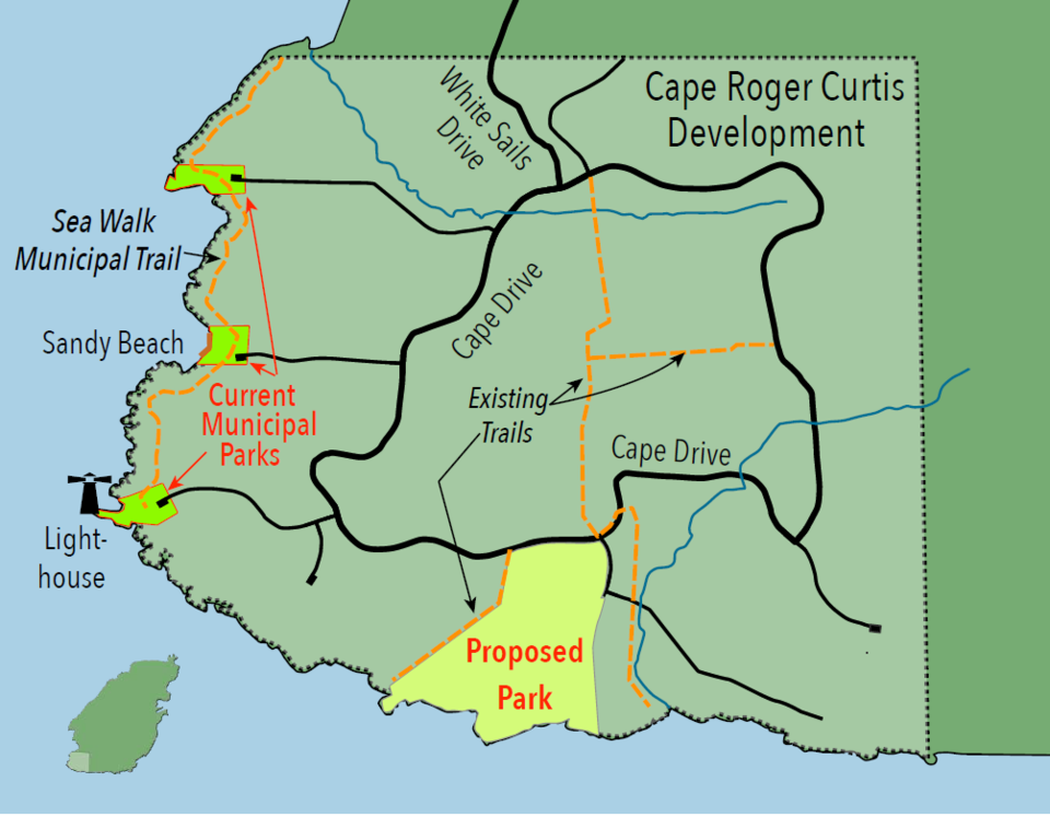 Map of Cape Roger Curtis
